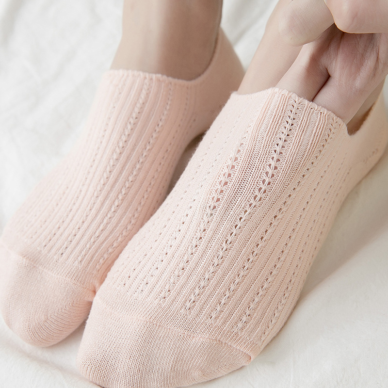 2019 Summer Women's Boat Socks Pure Color 100% Cotton Socks Women's Japanese 100% Cotton Socks Breathable Sweat Socks DSW0710