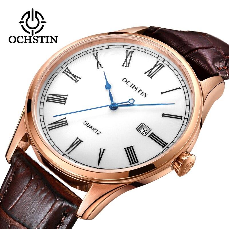Luxury Watch Men OCHSTIN Top Brand Military Quartz Wrist Male Leather Sport Watches Women Men's Clock Fashion Wristwatch Relogio