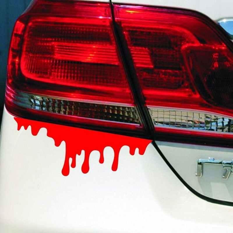 2 Buah/Banyak Darah Merah Diy Mobil Styling Stiker Mobil-Meliputi Drip Pendarahan DIY Kepribadian Auto Aksesoris Auto Mobil Keren stiker