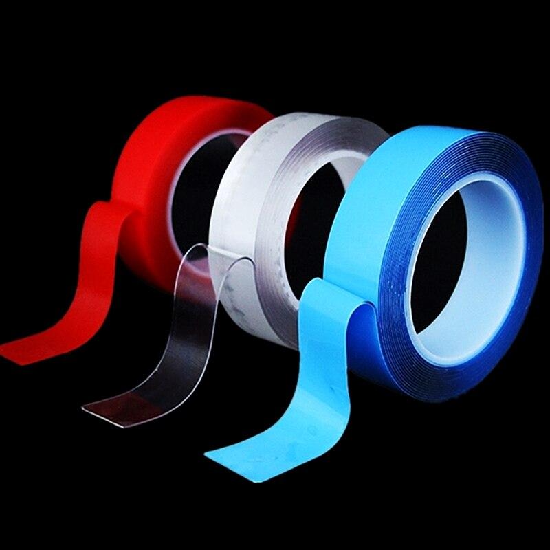 1/3/5M Nano Magic Tape Double-sides Adhesive Tape Sticker Traceless PU Waterproof Super Sticky Gripping Pads