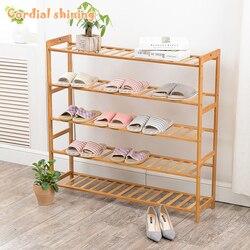 Cordial – porte-chaussures en bambou brillant, Type assemblé, bois massif multicouche, offre spéciale, étagère de maison en bois naturel