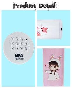 Image 2 - NBX קלמר סיסמא דלת כפולה ספר עבור בנות ורוד גדול קיבולת עט תיבת חמוד קוסמטיקה קופסות אחסון תיק