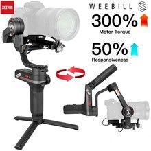 Zhiyun Weebill S , лаборатории карданный 3 осевой Стабилизатор Для беззеркальных и цифровых зеркальных камер, таких как sony A7M3 Nikon D850 Z7, 300% улучшенный двигатель