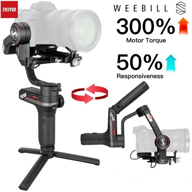 Zhiyun Weebill S, laboratuvar 3 eksenli Gimbal sabitleyici aynasız ve DSLR kameralar gibi Sony A7M3 Nikon D850 Z7, 300% geliştirilmiş Motor