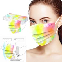 D adulto tie-tingido impressão três camada protetora máscara respirável macio e pele-friendly omfortable e respirável mascarilla