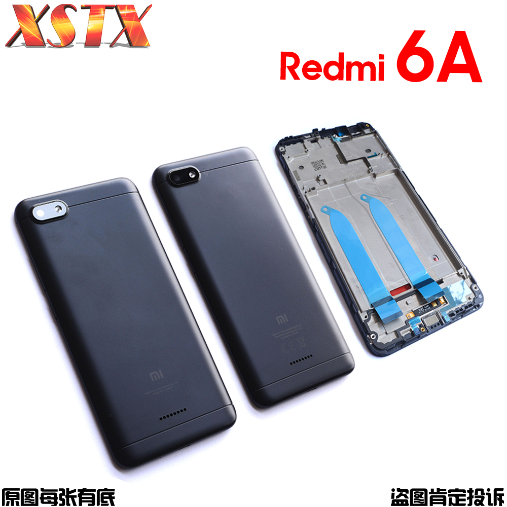 Battery Back Cover For Xiaomi Redmi 6A Rear Door Housing Replacement Repair Spare Parts Front Panel For Redmi6A