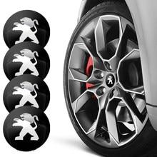 4 шт. 56 мм эмблема автомобиля колесо центр Кепки значок колесная Наклейка Наклейки для Peugeot 107 108 206 207 308 307 508 2008 3008