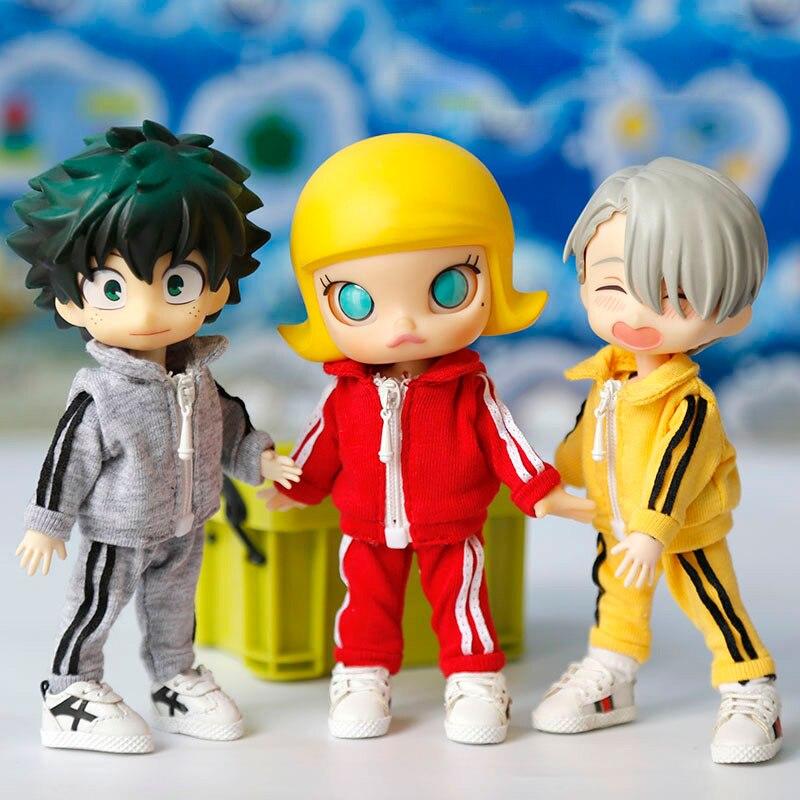 Кукла ob11 одежда 1/12 bjd Кукла одежда свитер gcc девочка PICCODO molly Кукла Одежда Аксессуары повседневная спортивная одежда костюм Куклы      АлиЭкспресс