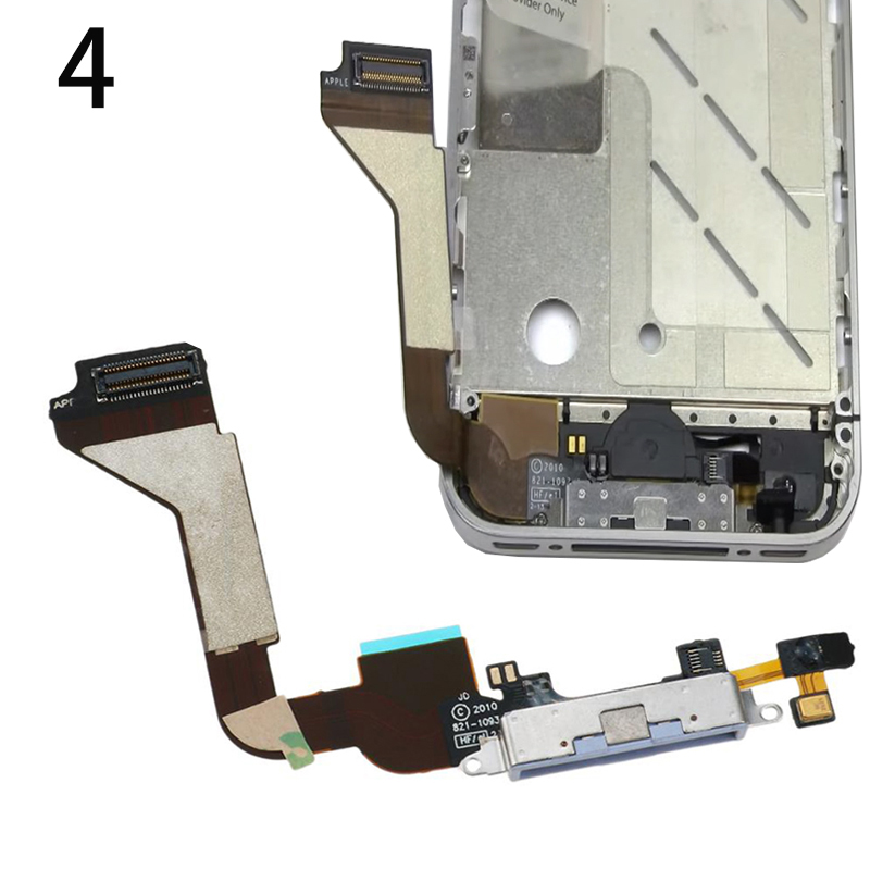 High Quality Bottom USB Charger Port Connector Dock Flex Cable For iPhone 4 5 5S 6S 7 8 6 Plus Charging Connector With Mic Flex