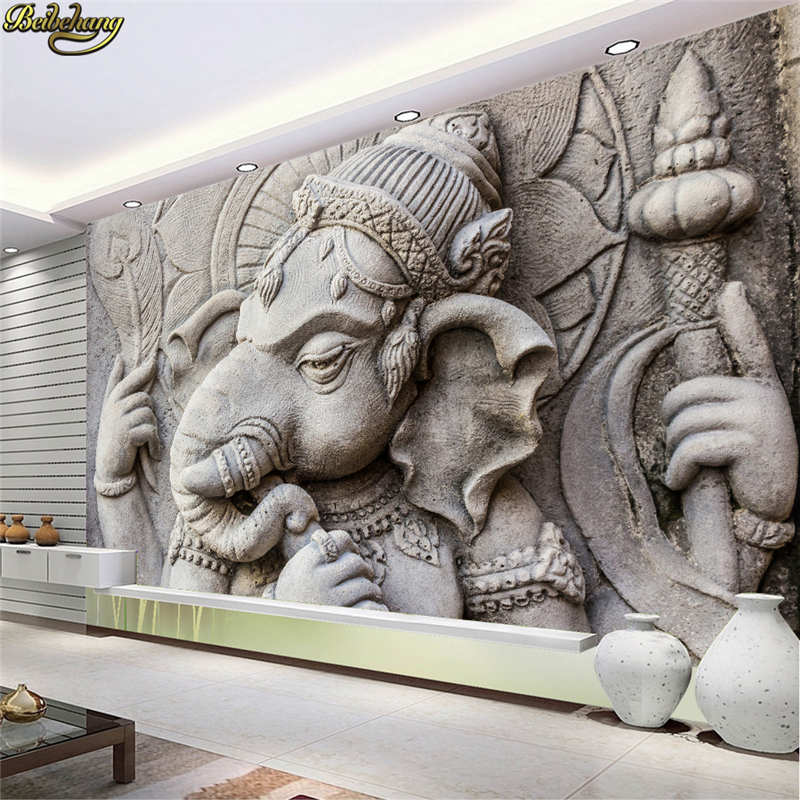 Beibehang Custom Photo Wallpaper Mural Indian God Elephant TV Background Wall Papers Home Decor Papel De Parede 3D Wall Paper