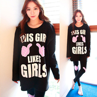 Spring And Autumn WOMEN'S Pajamas Women's Autumn Thin Korean-style Cotton Long Sleeve Convention Set Sports Large Size Cute Home