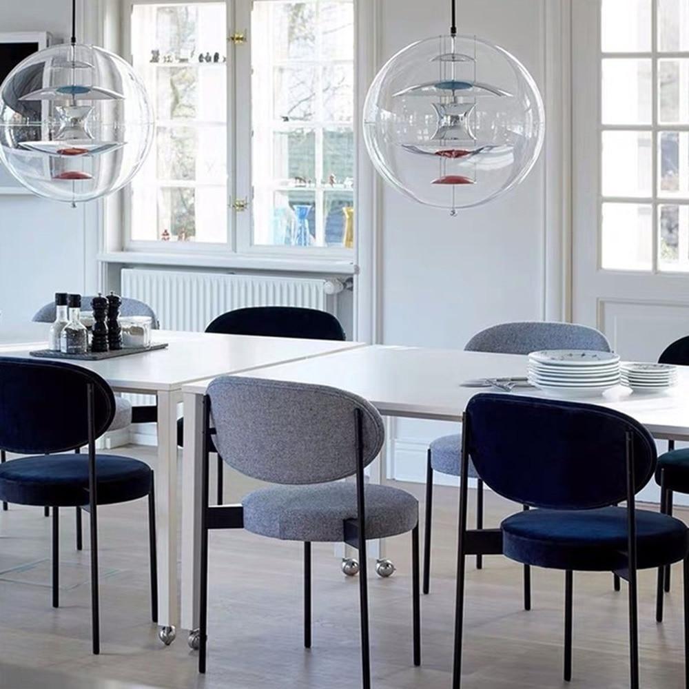 Nordic Metalen Eetkamerstoel Thuis Moderne Eenvoudige Stoel Leisure Creatieve Mode Cafe Restaurant Hotel Stoel Woonkamer Bank Moderne - 4