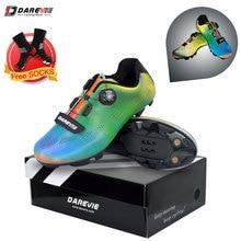 Darevie велосипедная обувь Хамелеон Светоотражающая MTB велосипедная обувь мужская обувь для горного велосипеда самофиксирующаяся обувь SPD MTB велосипедная обувь