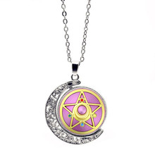 Sailor Moon Necklace Pendant Accessories Time Gem Necklace Accessories Crystal Pendant Sweater Chain Anime Adult Ms Christmas(China)