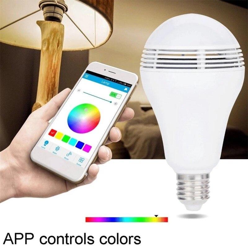Беспроводной светодиод BT музыкальный светильник лампа с умным bluetooth динамиком многоцветное изменение приложения управление RGB подключение один к одному - 4
