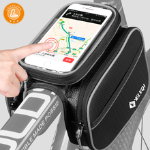 LOVELION 6.2 Inch Waterproof Touch Screen Bicycle Bags Cycling Bike Front Frame Bag Tube Pouch Mobile Phone Storage