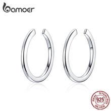 Bamoer-pendientes minimalistas de Plata de Ley 925 para mujer y hombre, joyería SCE647
