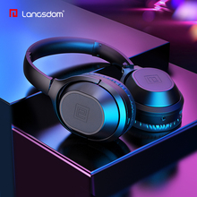 Langsdom Active Noise Cancelling Earphones Bluetooth Headphones with Mic Wireless Earphone Over Ear Stereo ANC for Cell Phone/PC