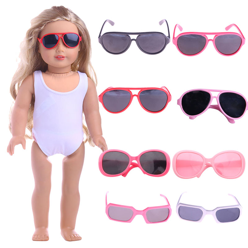 Doll Sun Sunglasses For 18 Inch American&43Cm Born Baby Doll Clothes Accessories Our Generation,Girl's Toy Gifts
