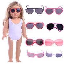 Okulary przeciwsłoneczne dla lalek dla 18 Cal American amp 43Cm akcesoria dla lalki ubranka dla dzieci nasze pokolenie zabawka dla dziewczynek prezenty tanie tanio Fleta Z tworzywa sztucznego 18 inch or 43 cm Don t smoke n1335 Akcesoria dla lalek Unisex Moda