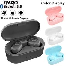 Y80 TWS אלחוטי Bluetooth אוזניות מוסיקה סראונד אוזניות עמיד למים ספורט אוזניות עובד על כל טלפונים חכמים אוזניות