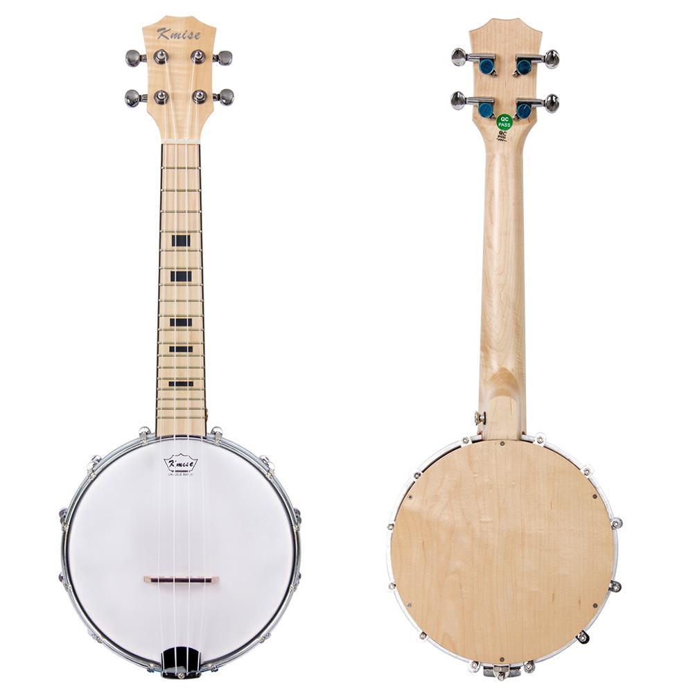 Kmise Banjolele 4 cordes Banjo ukulélé Concert 23 ''tout bois d'érable pour mélomane