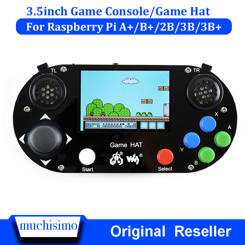 Raspberry Pi 3B+(Plus)3.5inch Game HAT Console Gamepad For Raspberry Pi 2B Zero W RetroPie With Case
