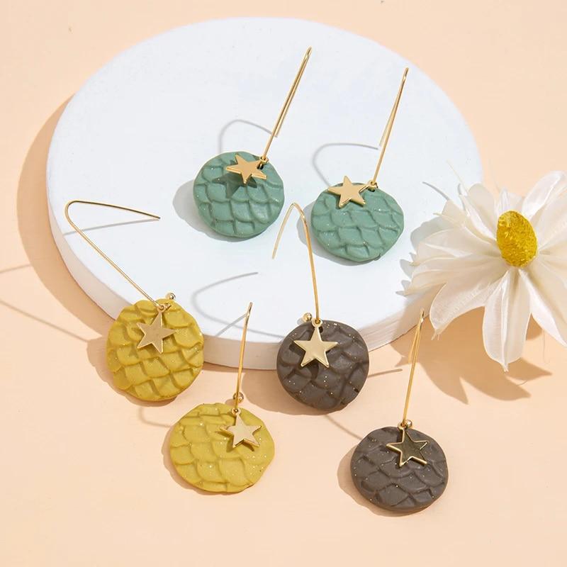 Star Polymer Clay Earrings