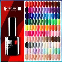 Beautilux 1pc Gel Nail Polish Color Soak Off UV LED Nails Gel Varnish Lacquer Long Lasting Easy Apply Gels Nail Art Supply 10ml