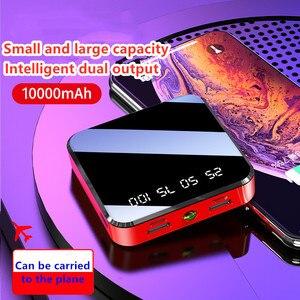 Image 4 - 10000mAh מיני נייד כוח בנק תשלום מהיר מראה מסך תצוגת LED Powerbank פנס תאורה עבור חכם טלפון נייד