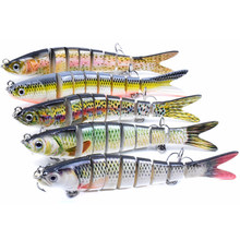 Wokotip Multi Jointed Lure Fishing Swimbait 14cm 26g Wobbler For Pike Sinking 8 Segments Robobait Crankbait Trout Hard Bait Bass
