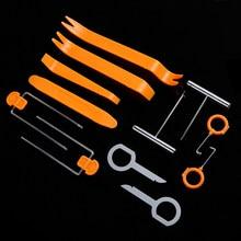 12 pçs rádio do carro guarnição painel ferramenta de remoção dashboard dvd player reequipamento remoção instalar especial desmontagem ferramenta