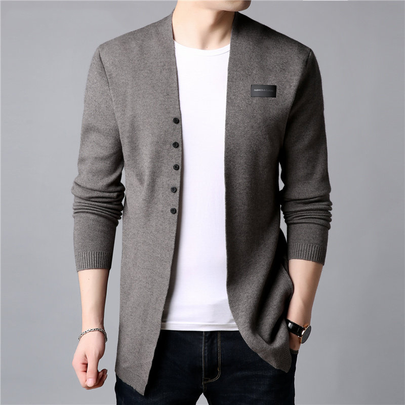 2020 Autumn Cardigan Men Casual Knitted Cotton Wool Sweater Men Clothes Winter New Mens Sweaters and Cardigans Coat