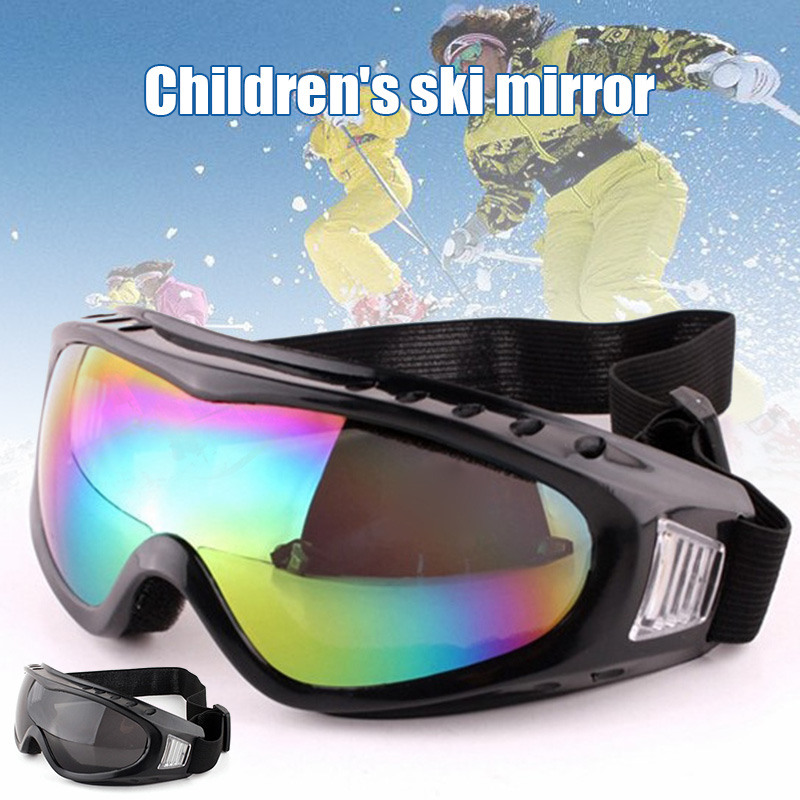 Newly Childrens Ski Goggles Outdoor Riding Glasses Windproof Radiationproof Goggles