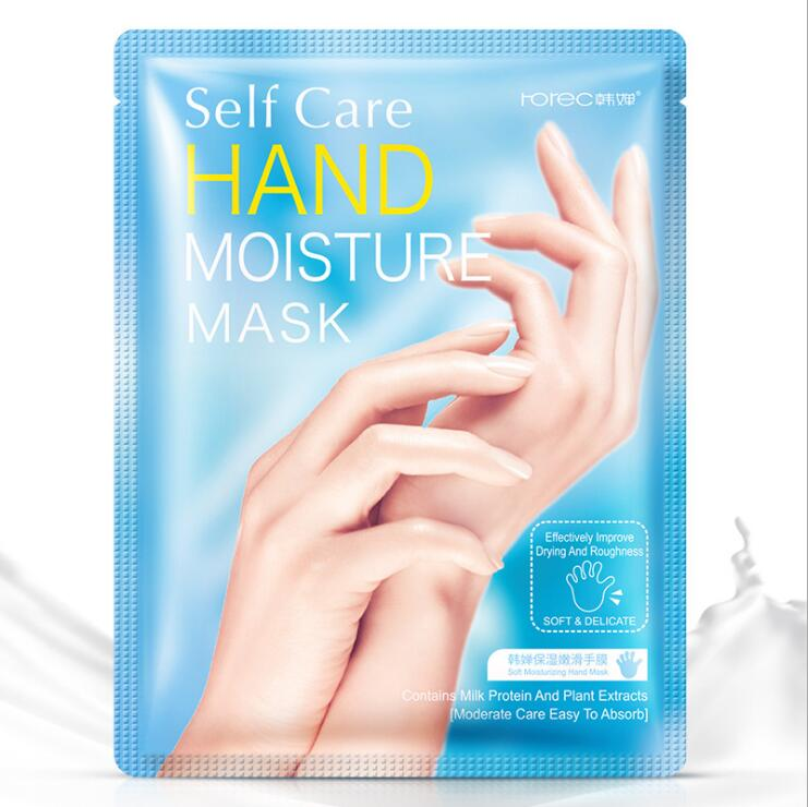 Milk Moisturizing Hand Mask Hyaluronic Aicd Hand Patch Remove Dead Skin Hand Skin Anti-Drying Exfoliating Hand Skin Care