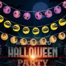 Halloween Party String Lights Skull Eyeball Spider LED Lantern Light Outdoor Indoor Decoration