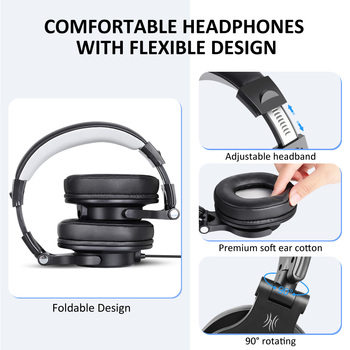 Oneodio Wired Gaming Headset Gamer 3.5mm Over-Ear Stereo Gaming Headphones With Detachable Microphone For PC Computer PS4 Phone 2