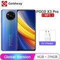 Глобальная версия POCO X3 Pro 8ГБ 256ГБ Мобильный телефон Snapdragon 860 8-ядерный FHD+ 120Гц DotDisplay Четыре камеры с ИИ 5160мАч 33W NFC