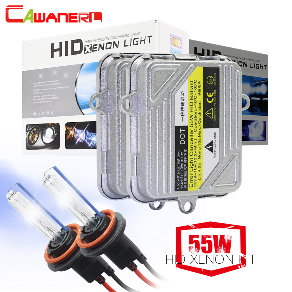 55W Car Headlight Fog Lamp HID <font><b>Xenon</b></font> Light <font><b>KIT</b></font> Bulb Ballast H1 H3 <font><b>H4</b></font> H7 H8 H9 H11 9005 HB3 9006 9007 881 4300K-<font><b>10000K</b></font> Fast Start image