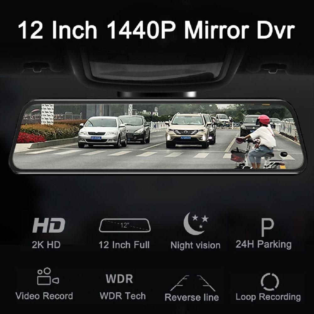 Mejor Coche DVR 1440P Auto grabadora coche espejo Video coche retrovisor Super visión nocturna Dash cámara grabadora de cámara - 3