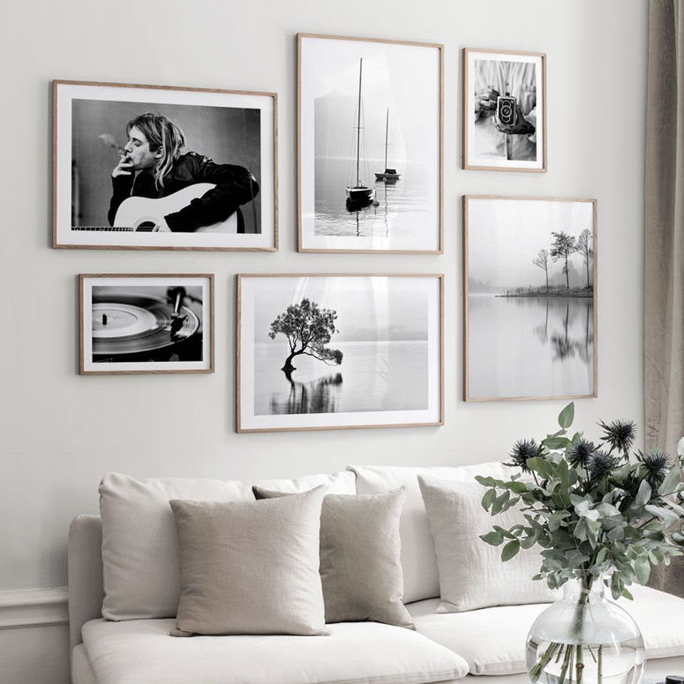 Nordic Landscape Poster Photography Canvas Painting Black White Wall Art Pictures For Living Room Modern Home Decorative Prints