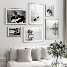 Nordic Landscape Poster Photography Canvas Painting Black White Wall Art Pictures For Living Room Modern Home Decorative Prints modern inspirational nordic flowers plants combination canvas painting zebra poster and prints living room decorative painting