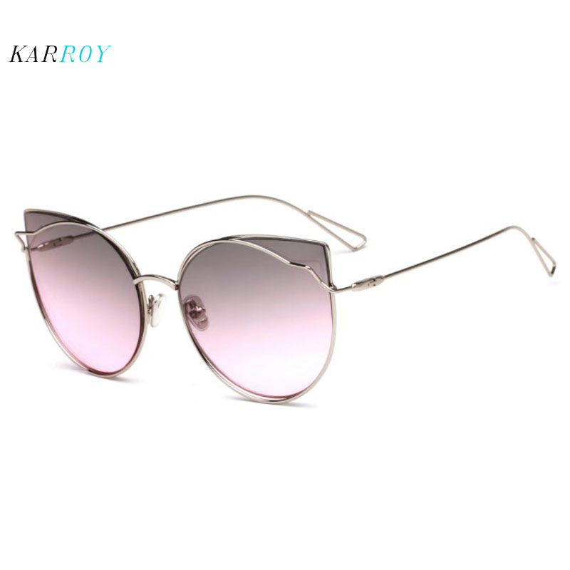 New Arrival Cat Eye Sunglasses Women UV400 Glasses Men Personality Metal Sun