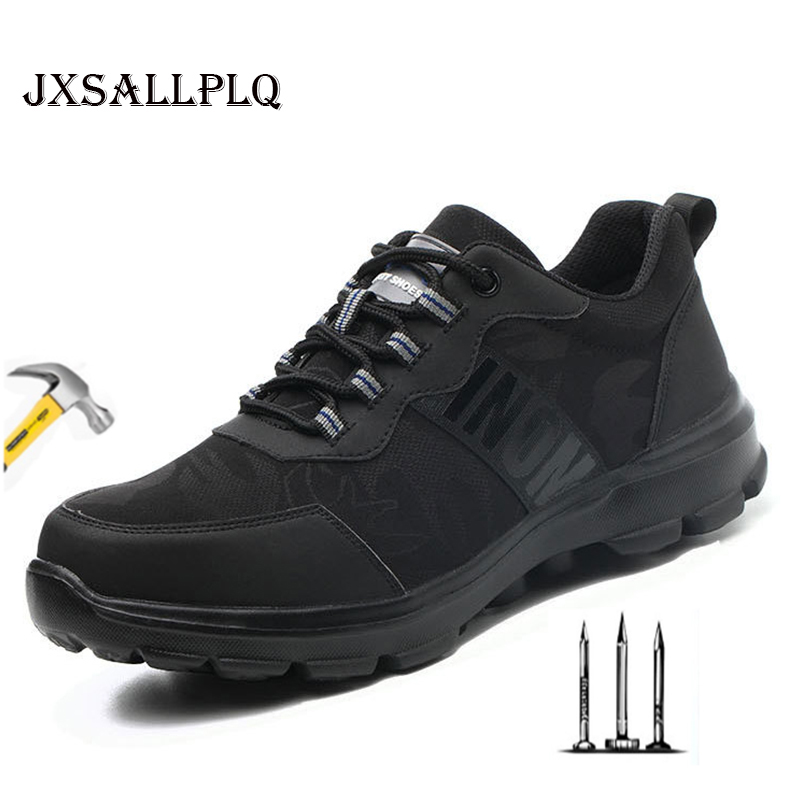 Summer New Men's Boots Men's Safety Shoes Built-in Steel Head Anti-smashing Anti-piercing Work Shoes Breathable Sports Shoes