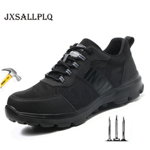 Summer New Men's Boots Men's Safety Shoes Built-in Steel Head Anti-smashing Anti