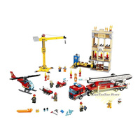 60110 Compatible Legoingly City Series 60216 The Fire Station Model Building Block Brick Toy For Children Birthday Gift 10831