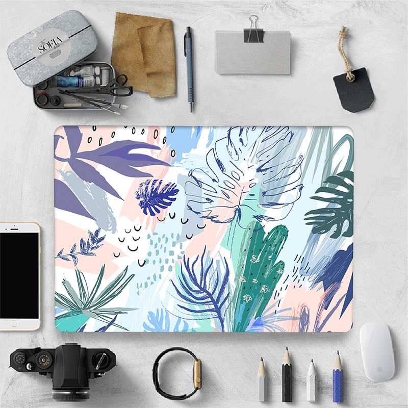 Sanmubaba Laptop Case For Macbook Air 11 13 Pro Retina 13 15 inch With Touch Bar Watercolor Print Hard Cover Laptop Bag Sleeve image