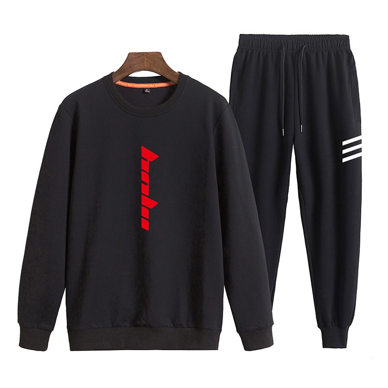 Autumn Fashion Korean-style 2019 Boy Sports Leisure Suit Teenager Junior High School Students Cotton Crew Neck Control 118p80