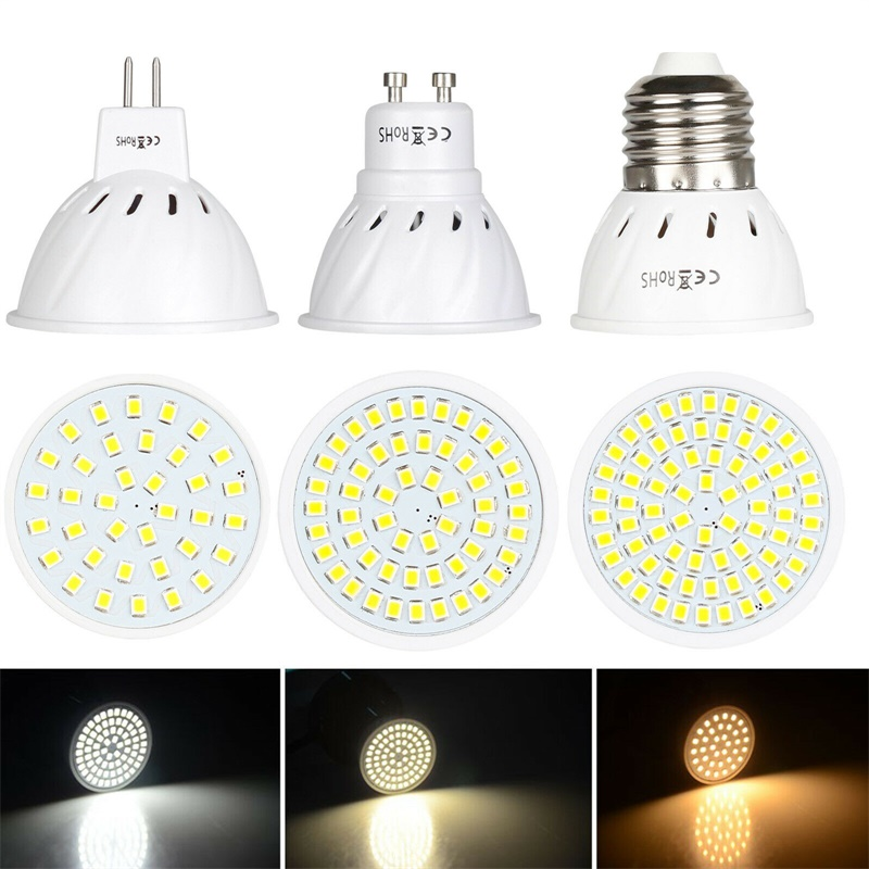 GU10 LED E27 Lamp E14 Spotlight Bulb 36 54 72 Leds Lampara 220V GU 10 Bombillas Led MR16  Lampada Spot Light 12V 24V Lamp Bright