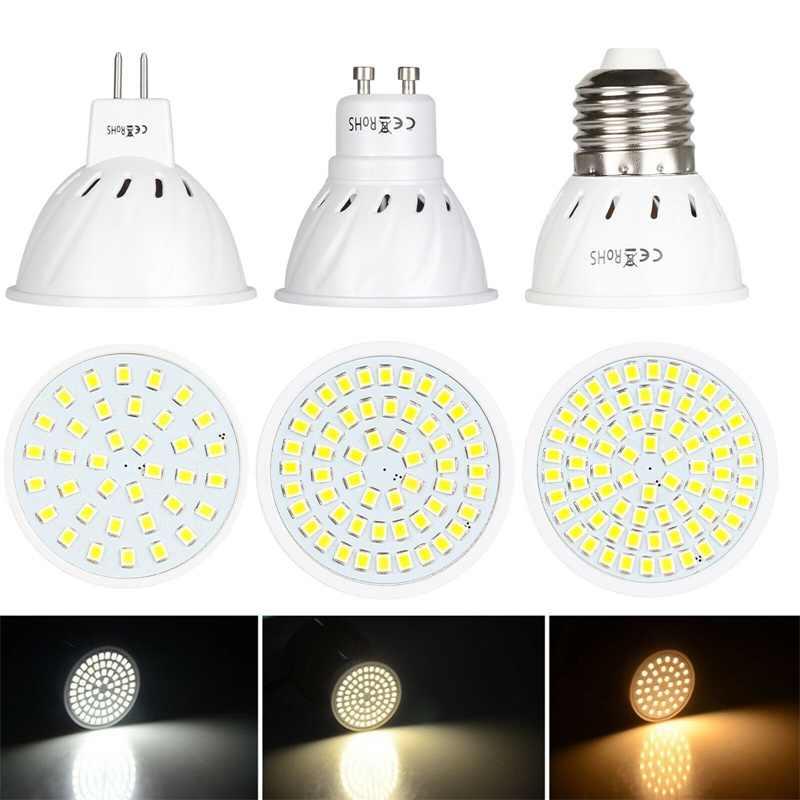 GU10 LED E27 Lamp E14 Spotlight Bulb 36 54 72 leds lampara 220V GU 10 bombillas led MR16  Lampada Spot light 12V 24V Lamp Bright